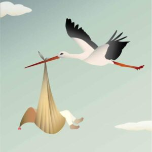 THE STORK unisex - Card A7 (primary)